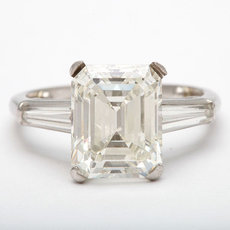 spectacular emerald cut solitaire ring at 1stdibs