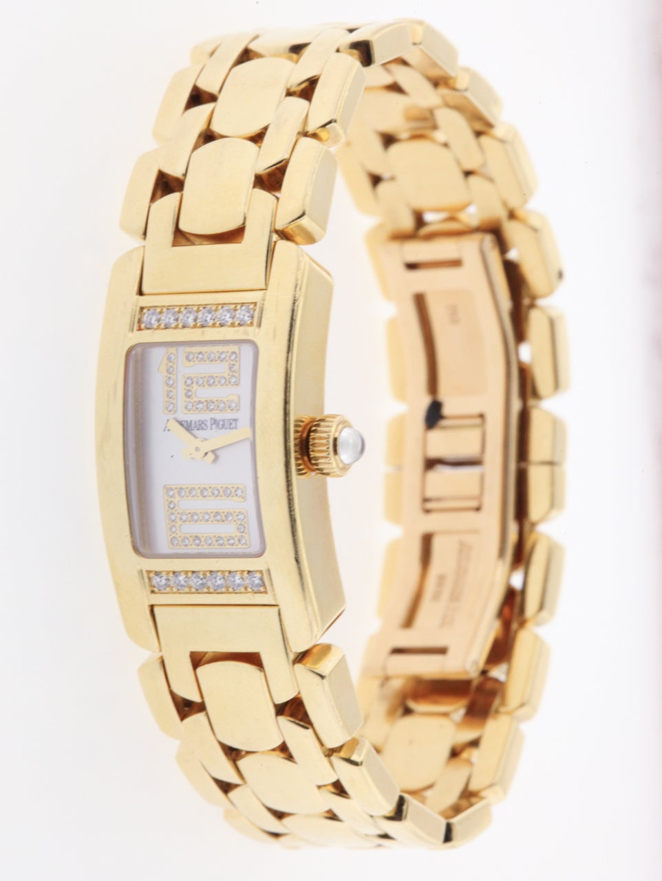 Audemars Piguet Lady's Yellow Gold and Diamond Promesse Bracelet Watch 3
