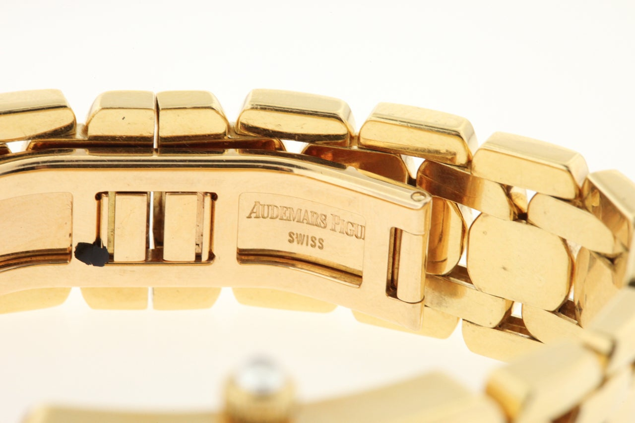 Audemars Piguet Lady's Yellow Gold and Diamond Promesse Bracelet Watch 4