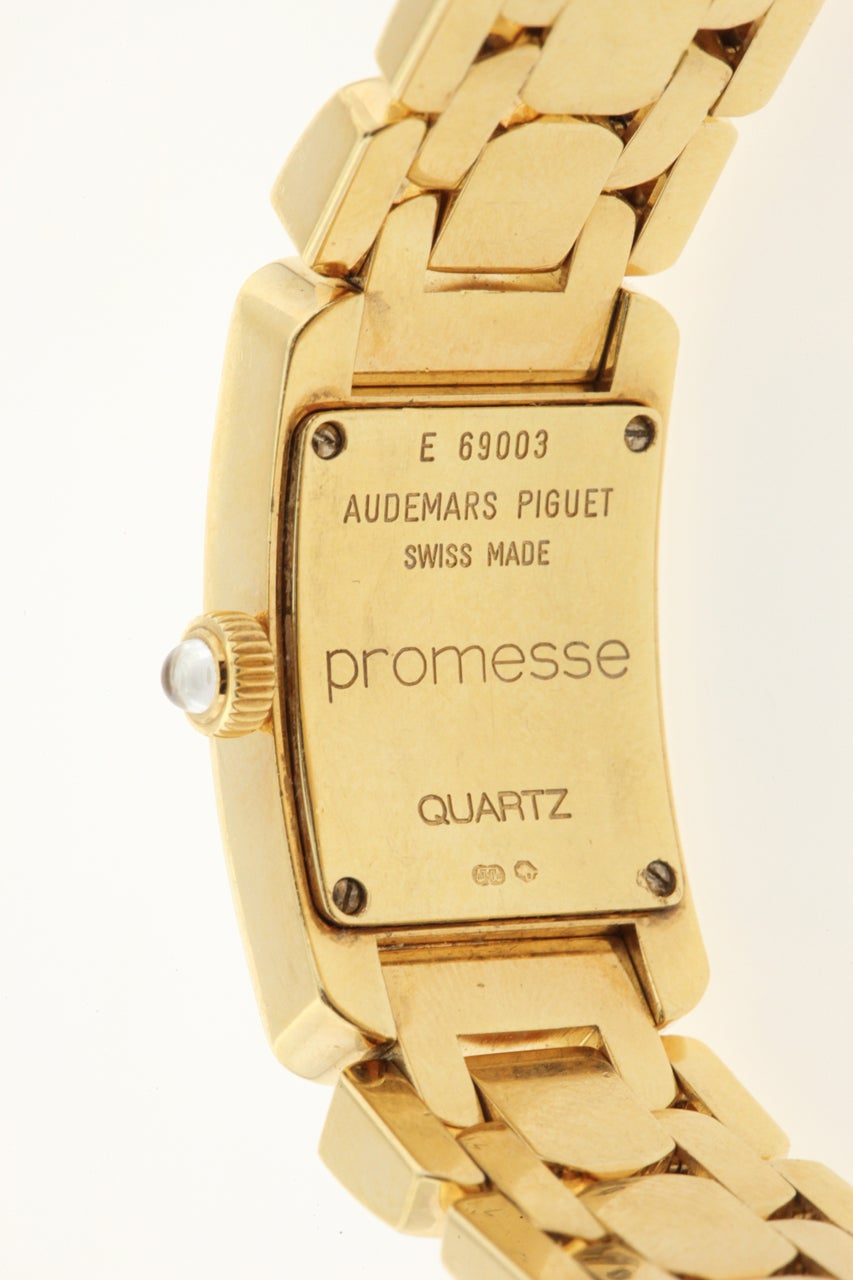 Audemars Piguet Lady's Yellow Gold and Diamond Promesse Bracelet Watch 5