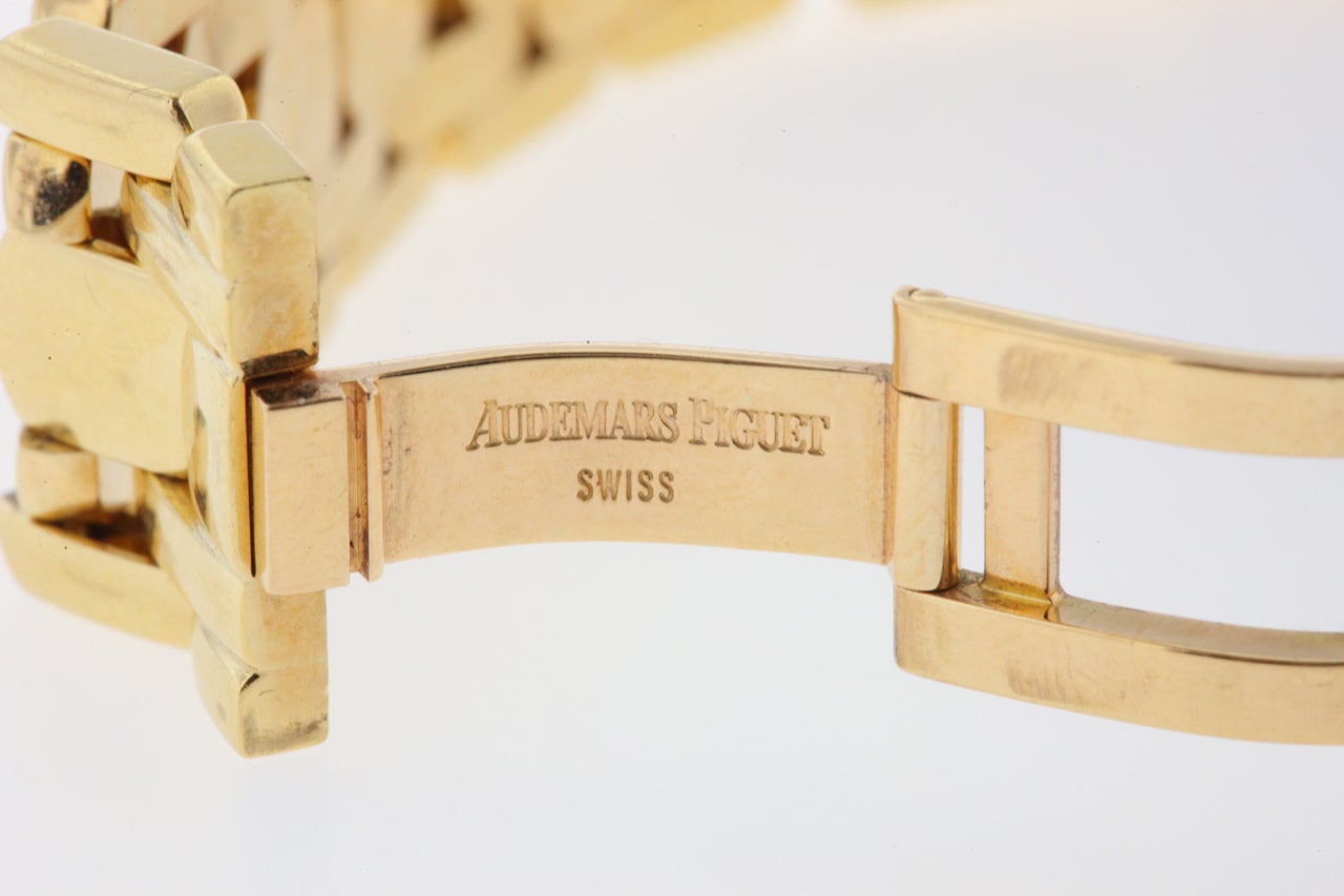Audemars Piguet Lady's Yellow Gold and Diamond Promesse Bracelet Watch 6