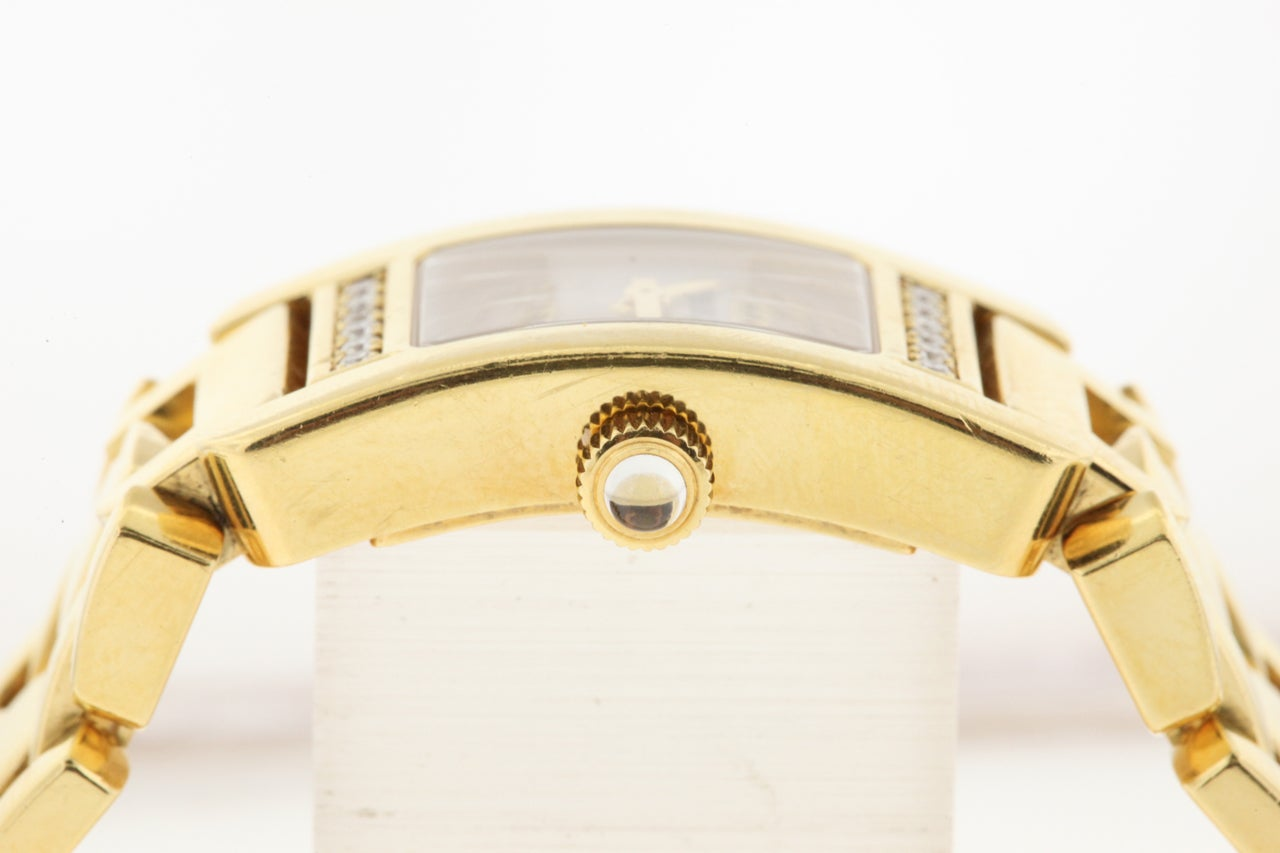 Audemars Piguet Lady's Yellow Gold and Diamond Promesse Bracelet Watch 8