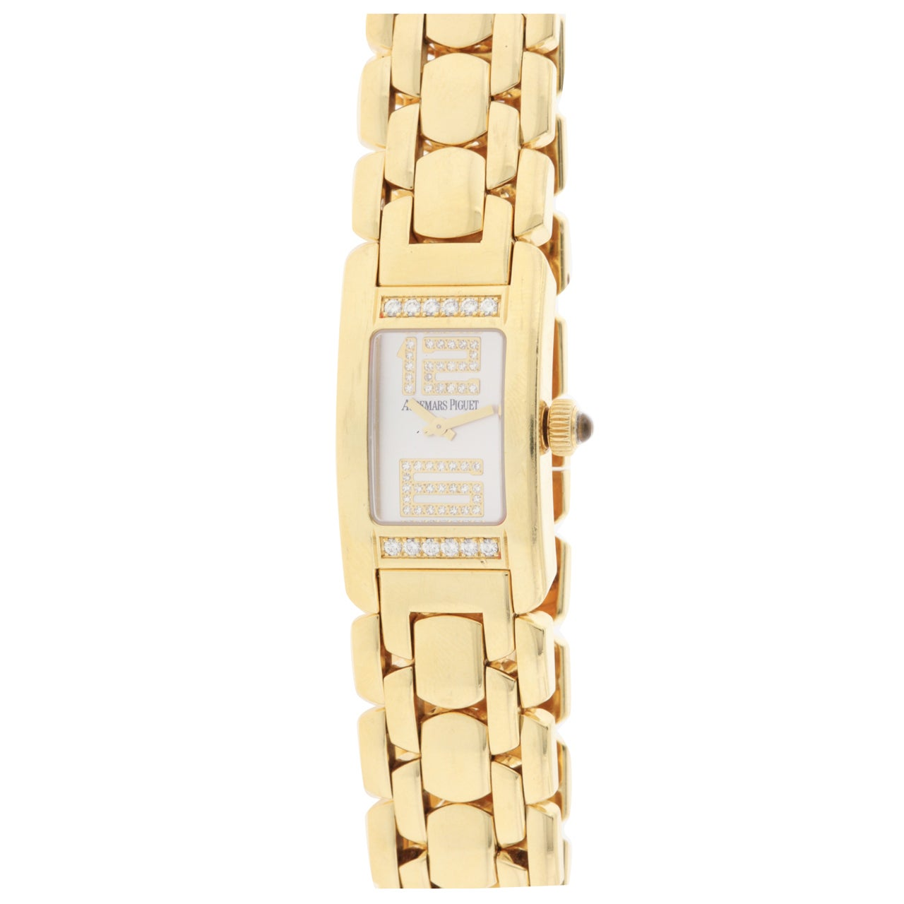 Audemars Piguet Lady's Yellow Gold and Diamond Promesse Bracelet Watch 1
