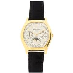 Patek Philippe Yellow Gold Perpetual Calendar Wristwatch Ref 5040