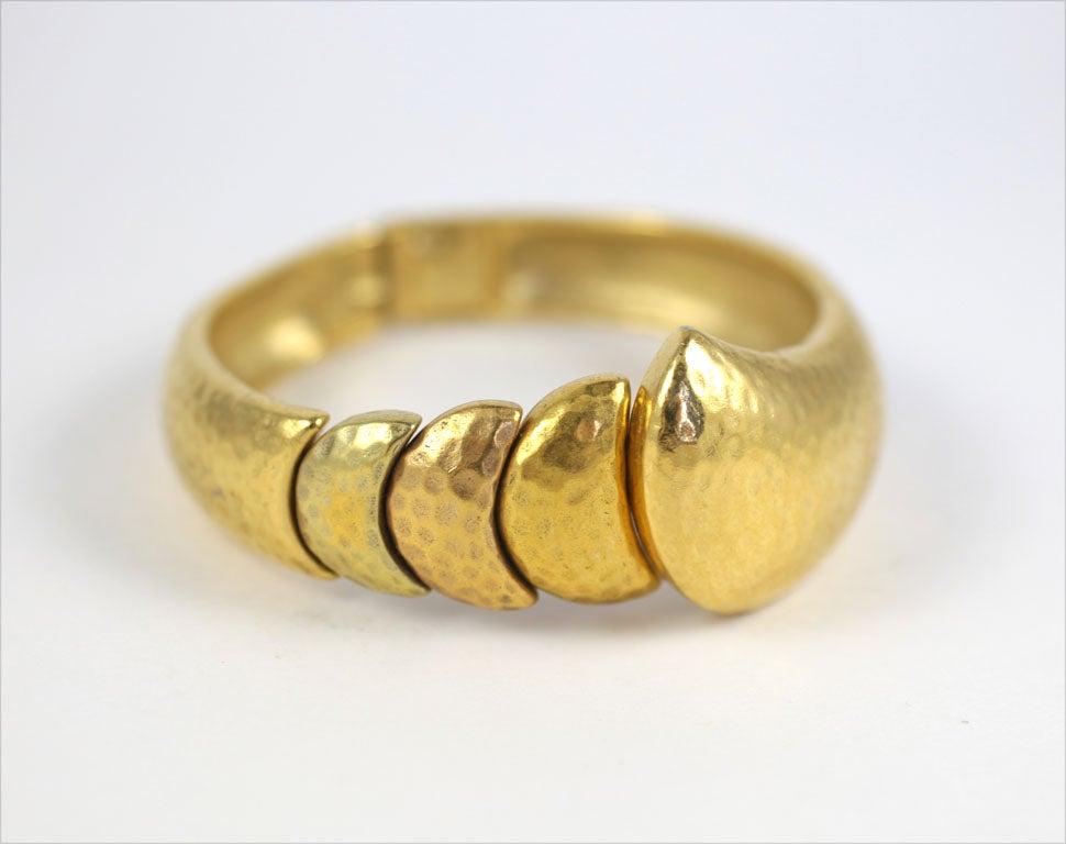 Goldtone Clamp Bracelet For Sale 1