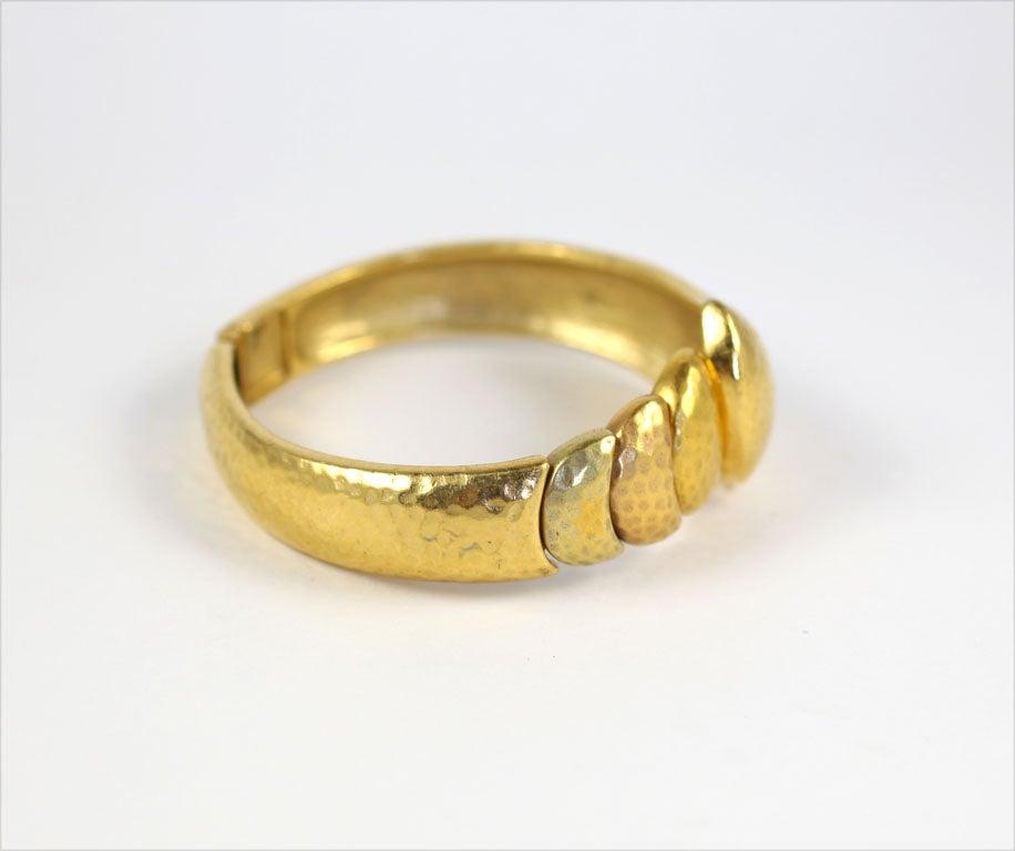 Goldtone Clamp Bracelet For Sale 2
