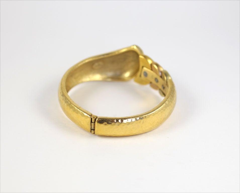Goldtone Clamp Bracelet For Sale 3