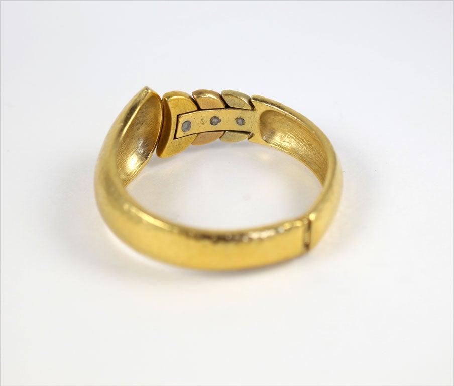 Goldtone Clamp Bracelet For Sale 4