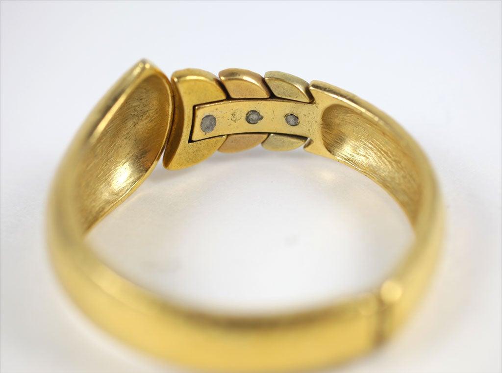 Goldtone Clamp Bracelet For Sale 5