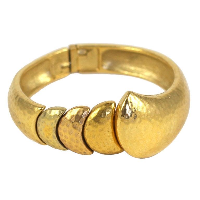 Goldtone Clamp Bracelet For Sale