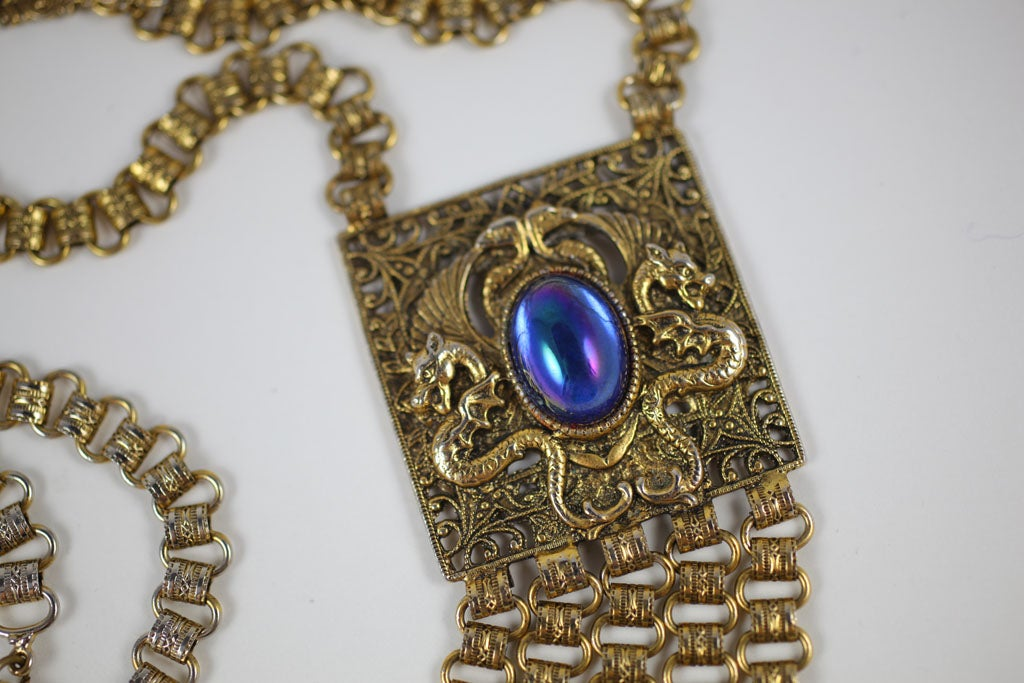 Exotic Edlee Pendant Necklace For Sale 2