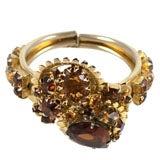 """Multi """"Topaz"""" Stone Clamp Bracelet"""