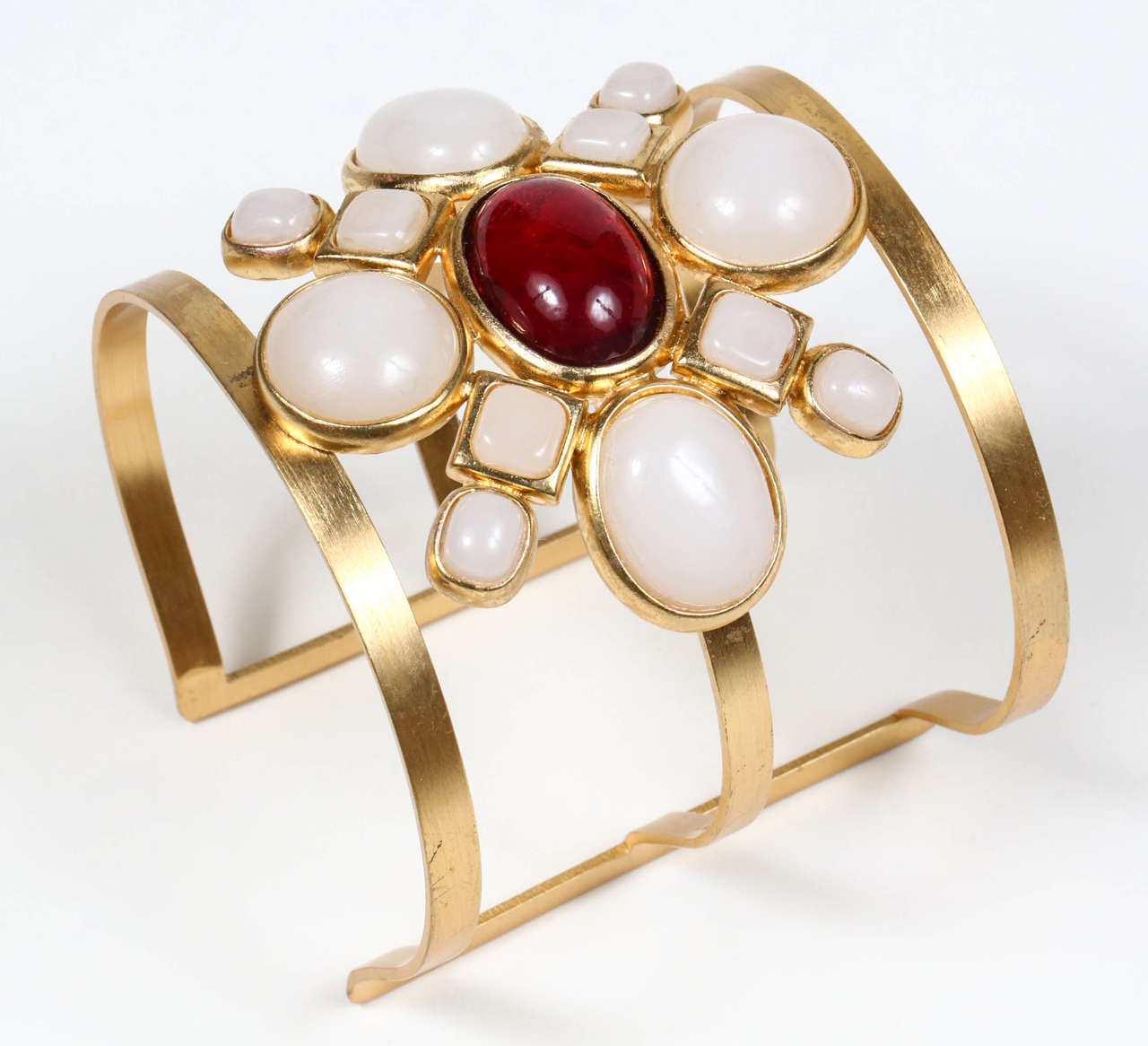 Chanel Poured Glass Arm Cuff 2