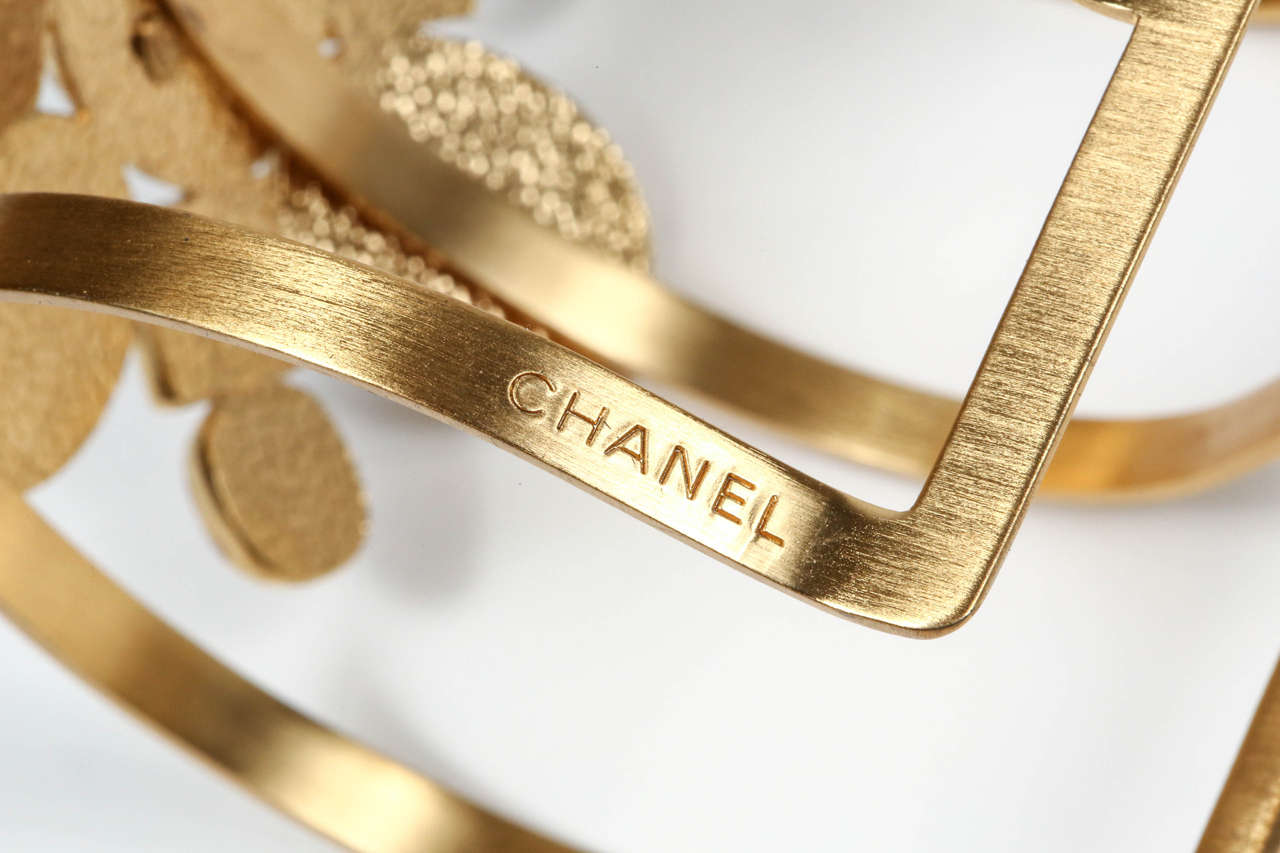 Chanel Poured Glass Arm Cuff 4