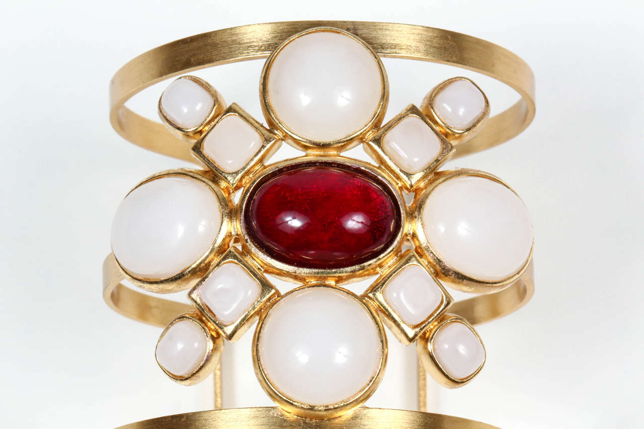 Chanel Poured Glass Arm Cuff 6