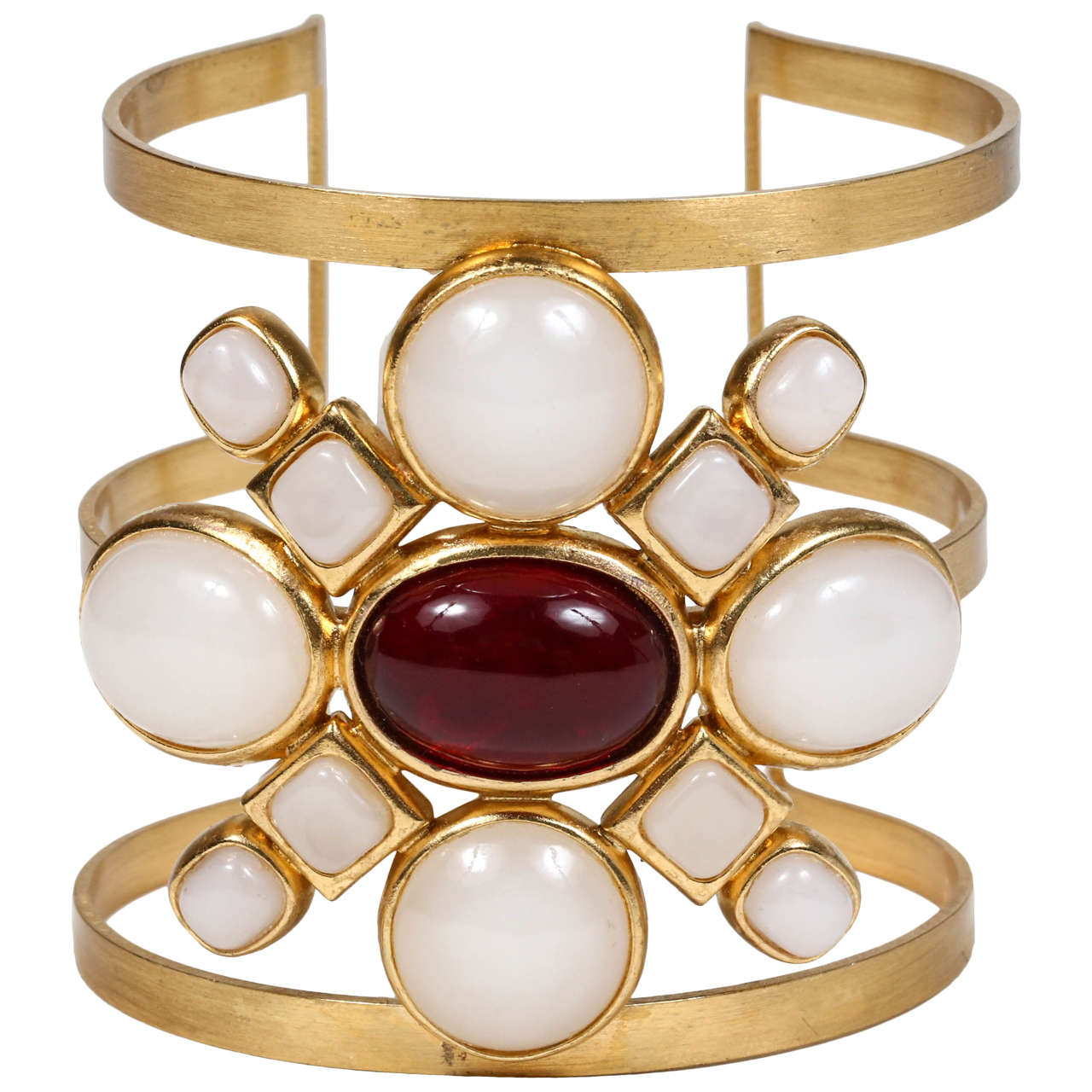 Chanel Poured Glass Arm Cuff 1