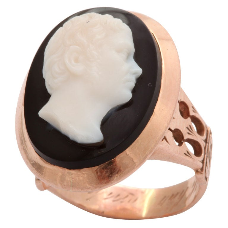 Poetry in Stone:  An Antique Italian Cameo Ring