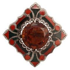 Fine Victorian Scottish Agate Brooch