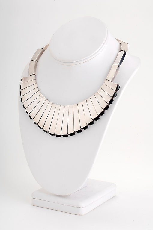 Women's Antonio Pineda Sterling and Onyx Suite For Sale