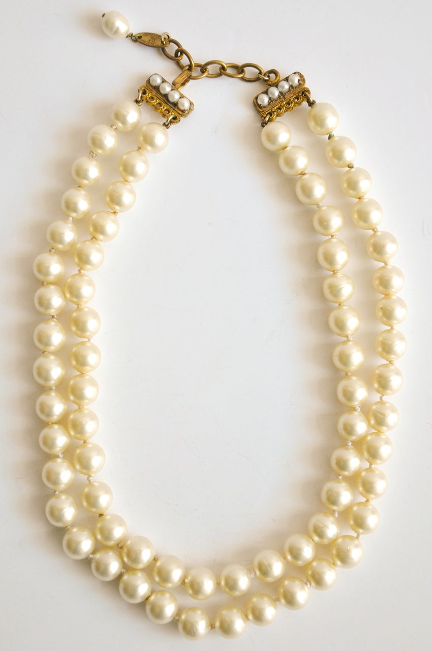 Chanel Doublestrand Pearl Necklace 2