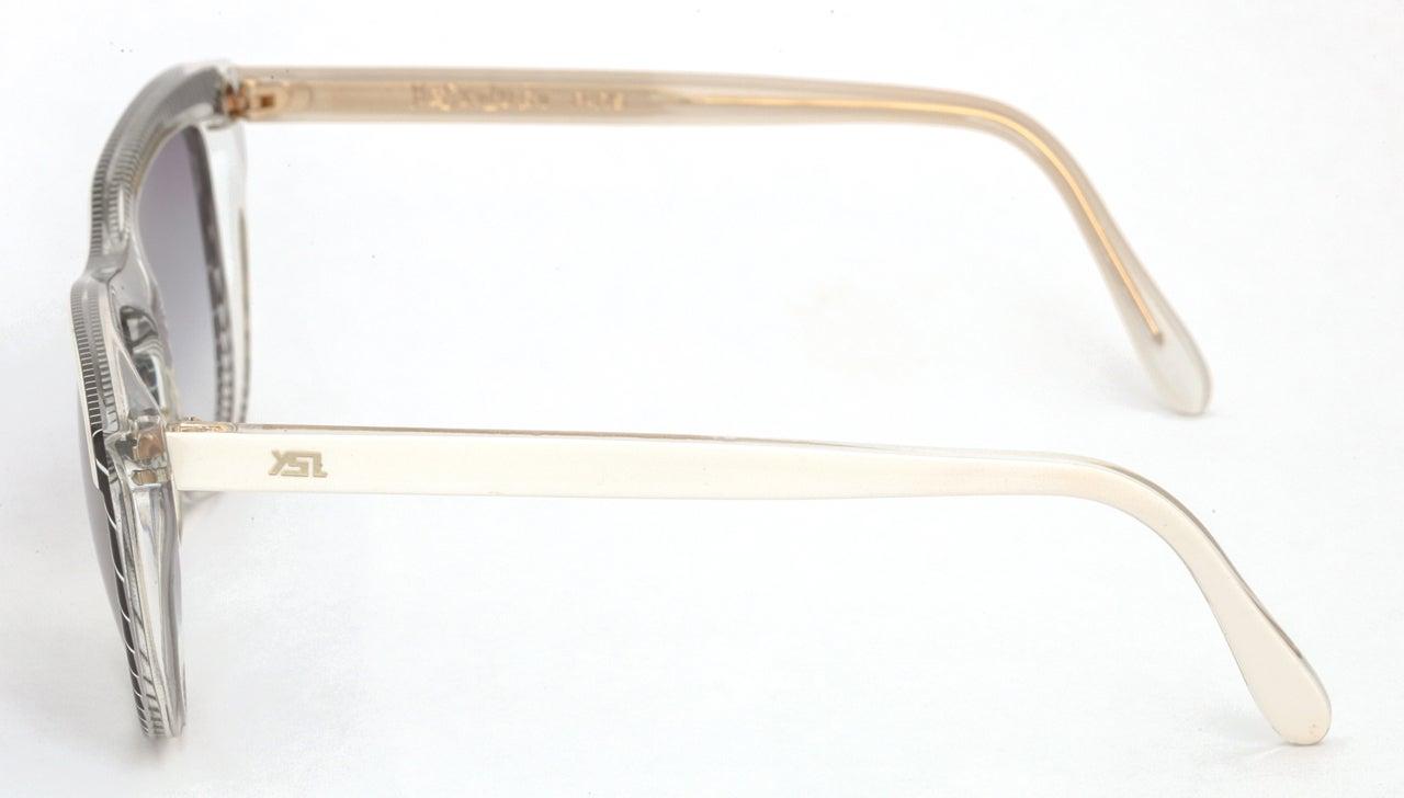 Gray Yves Saint Laurent Vintage Ysl Striped Sunglasses For Sale