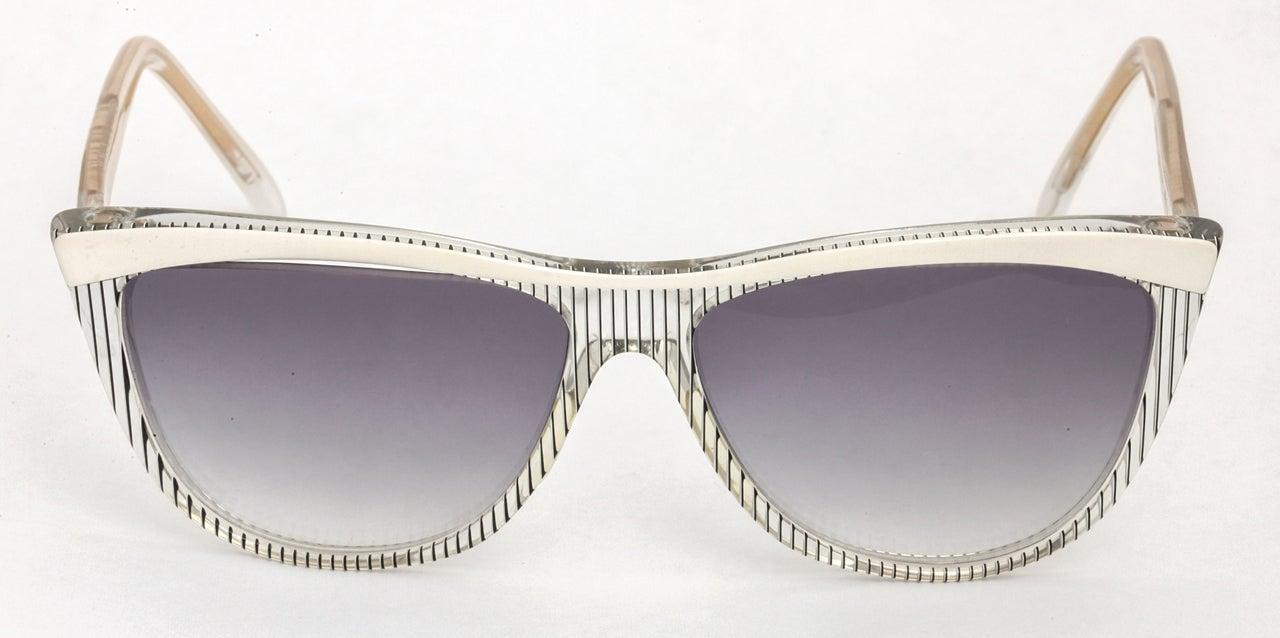 Yves Saint Laurent Vintage Ysl Striped Sunglasses For Sale 1