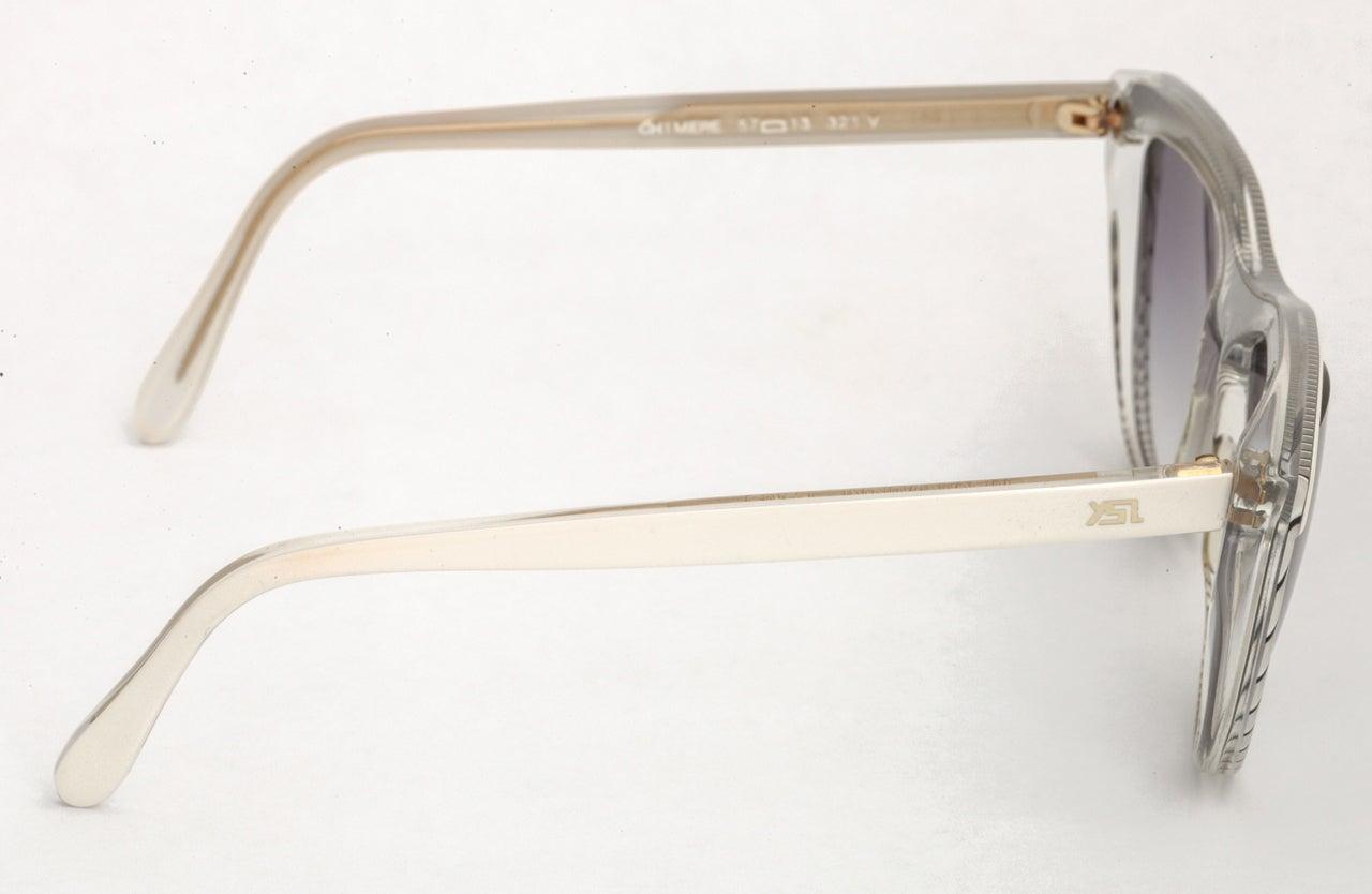 Yves Saint Laurent Vintage Ysl Striped Sunglasses For Sale 2