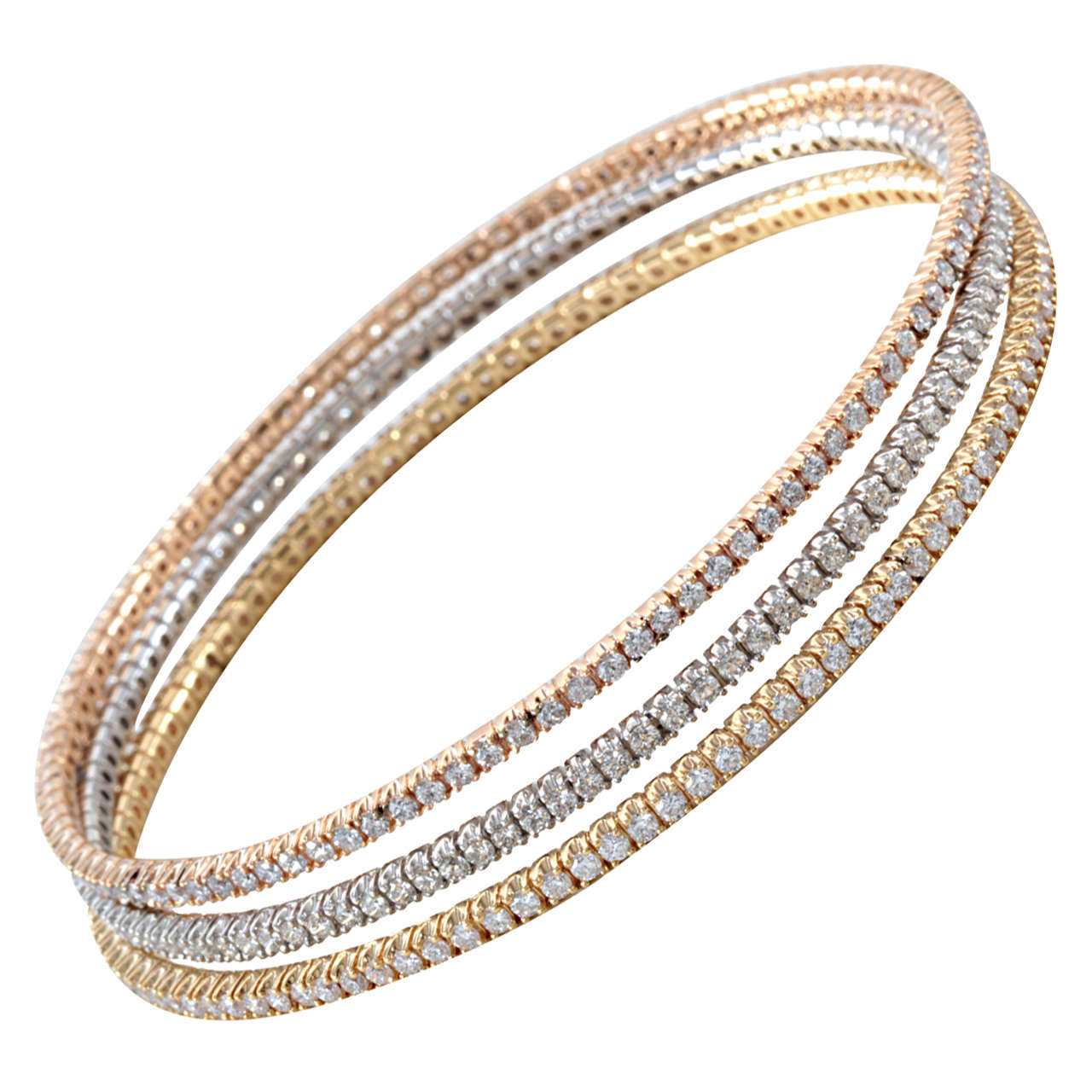 diamond bangle bracelets bangles solid white bracelet gold round pave