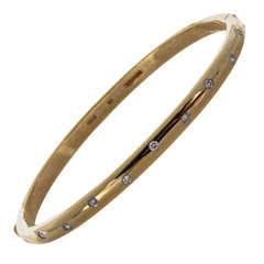 Tiffany Etoile Diamond Yellow Gold Bangle Bracelet
