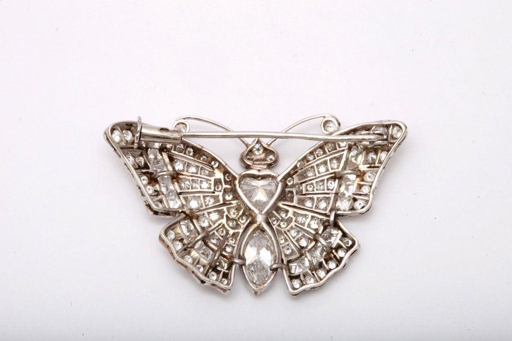Diamond Butterfly Brooch 3