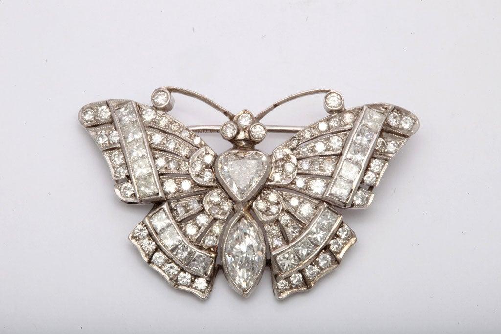 Diamond Butterfly Brooch 2