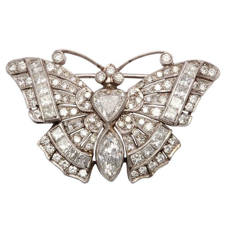 Diamond Butterfly Brooch 1