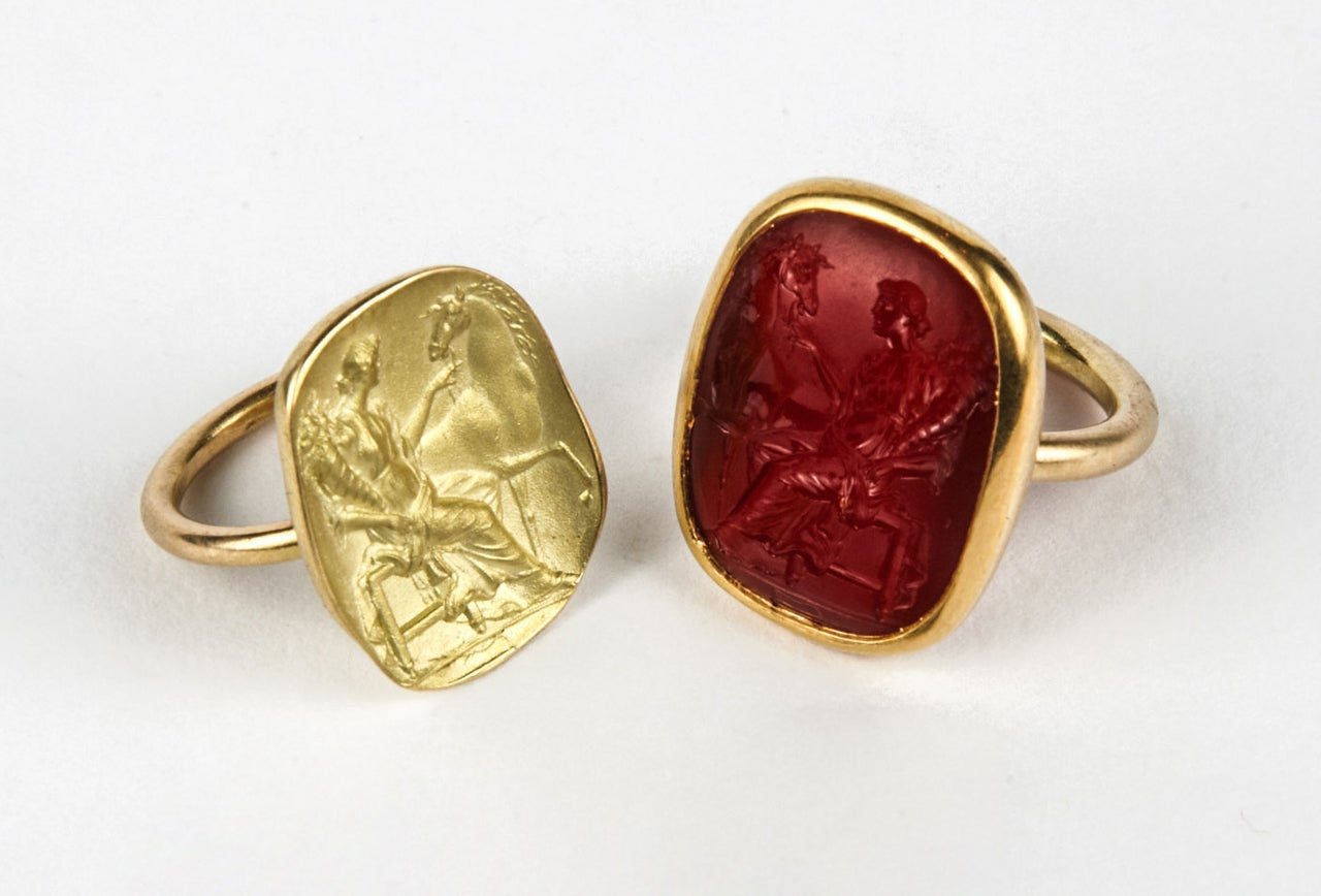 antique carnelian intaglio and its impression rings at 1stdibs