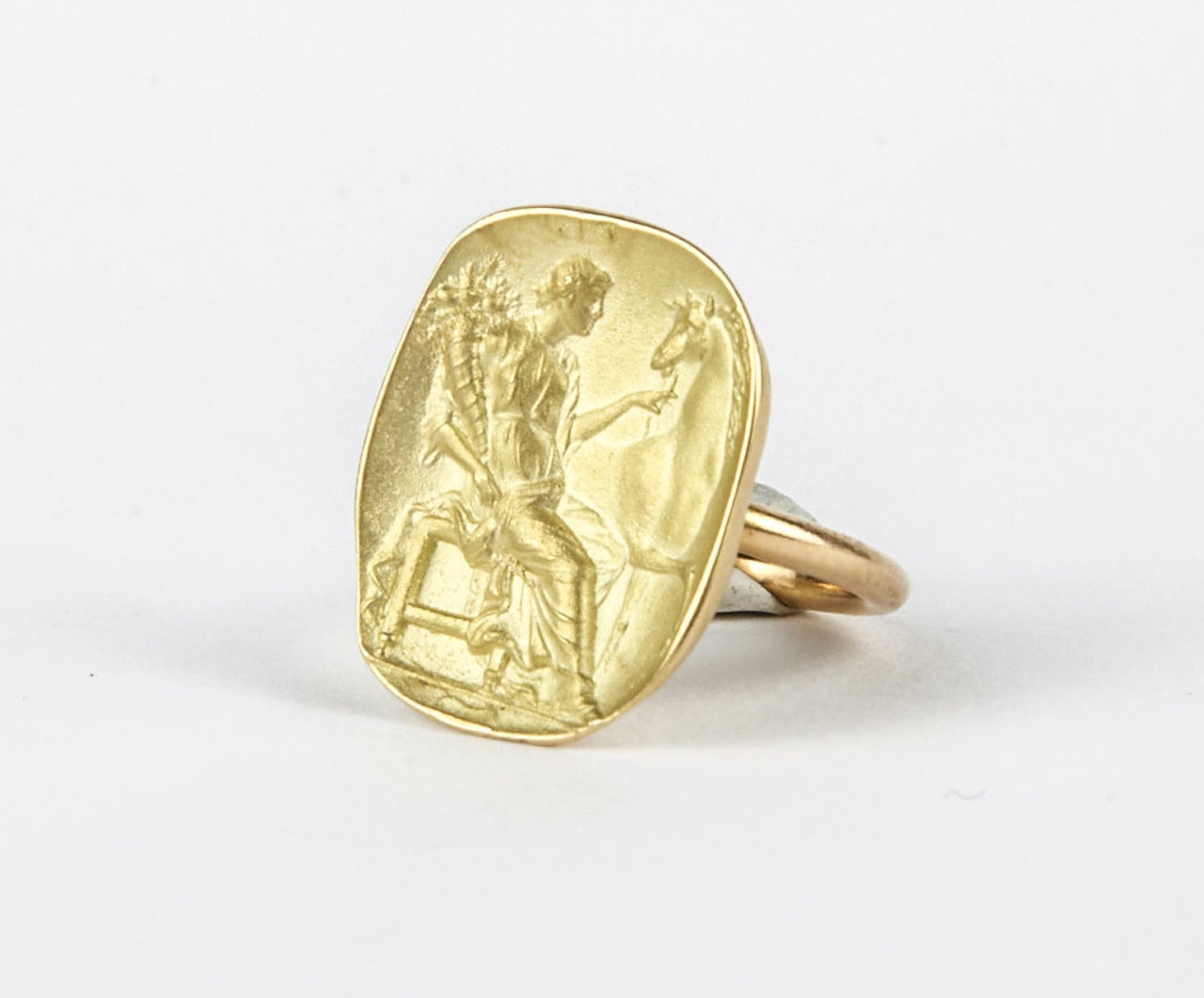 Antique carnelian intaglio and its impression rings at 1stdibs for Fingerprint jewelry by first impressions