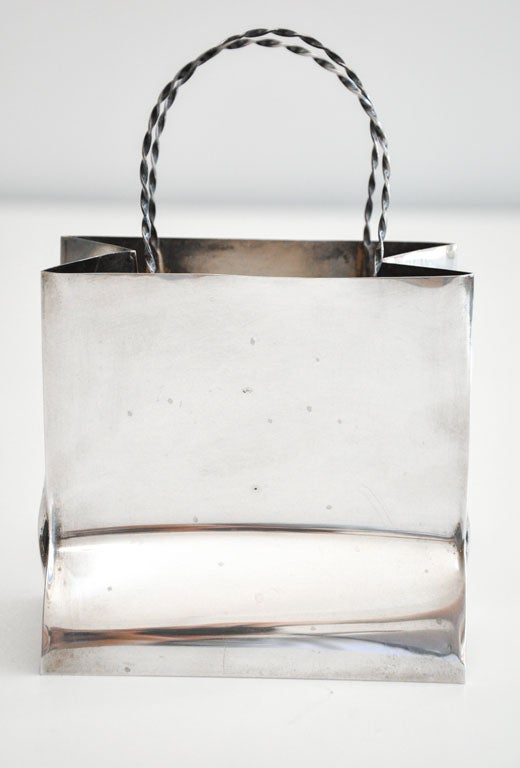 Vintage Cartier Sterling Silver Miniature Gift Bag image 4