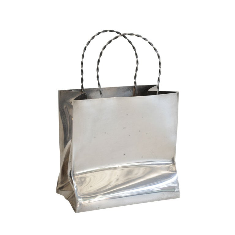 Vintage Cartier Sterling Silver Miniature Gift Bag