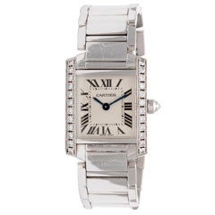 CARTIER White Gold and Diamond Bracelet Watch
