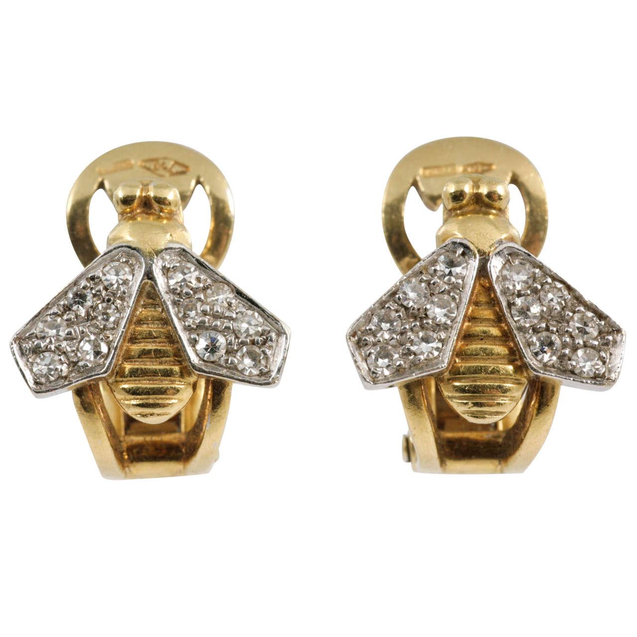 pomellato gold bee earrings at 1stdibs