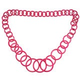 Mod Pink Two-Tone Loop Necklace