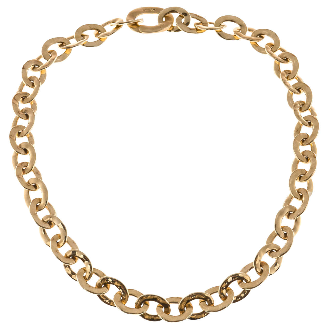 Pomellato Graduated Oval Link Yellow Gold Necklace