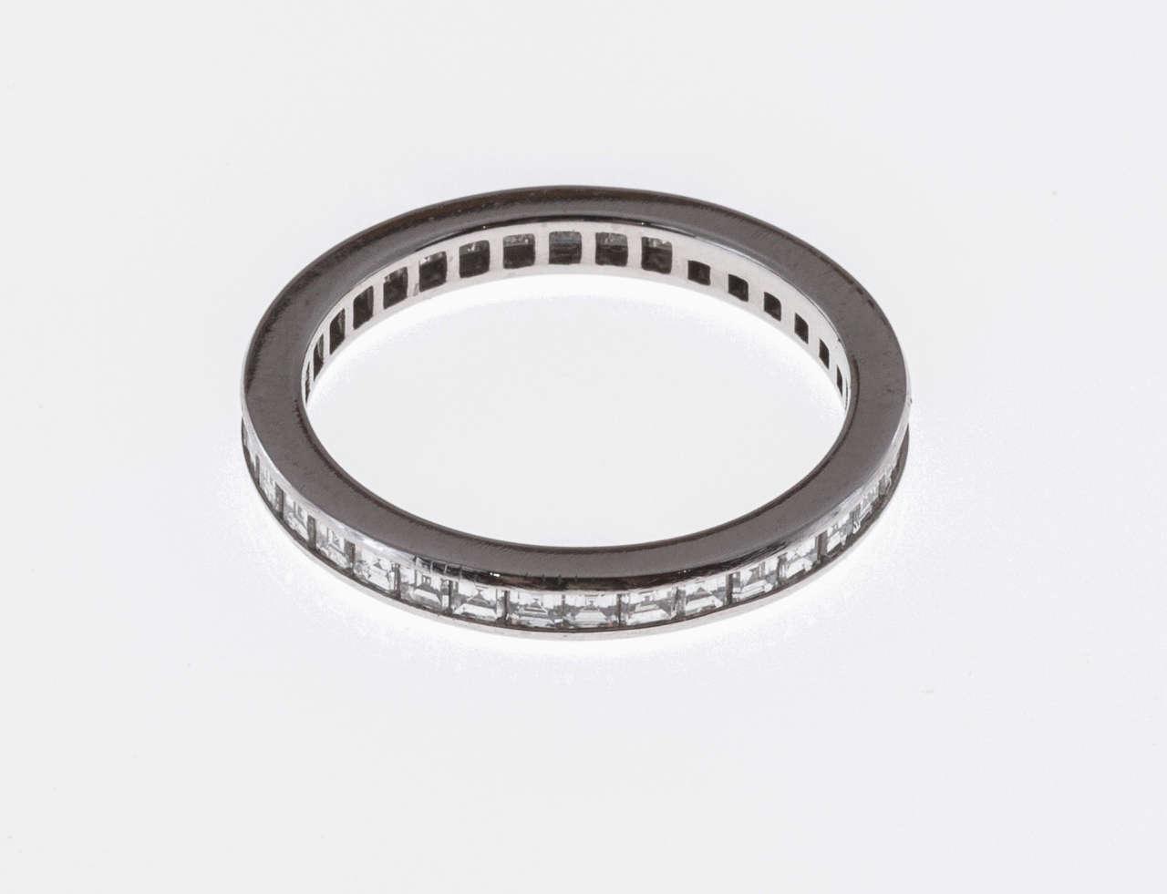 Modern Tiffany & Co. Diamond Platinum Eternity Ring For Sale
