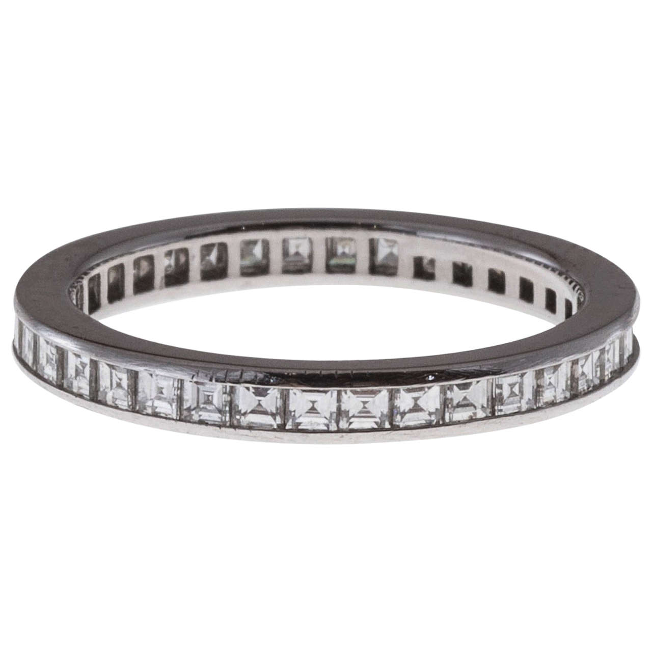 c724de773fdf Tiffany and Co. Diamond Platinum Eternity Ring For Sale at 1stdibs