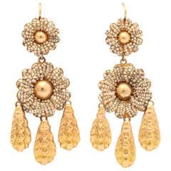 Georgian Chandelier Floral Earrings