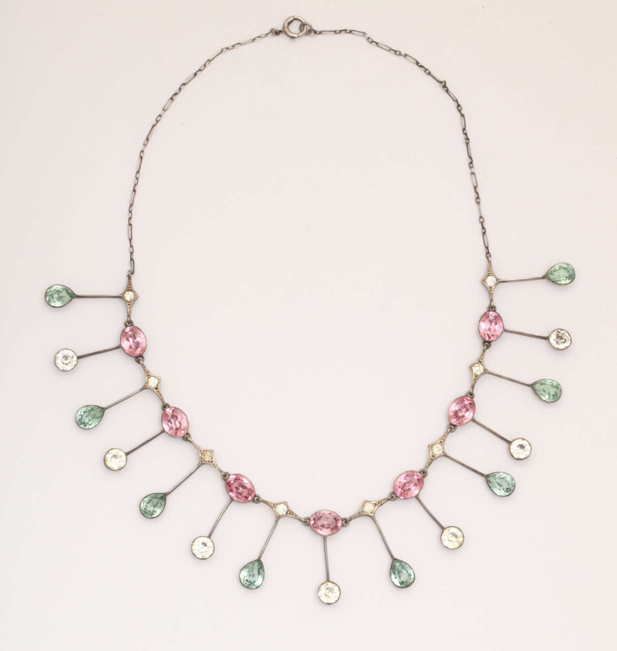 Striking Color Display in an Edwardian Paste Necklace 2