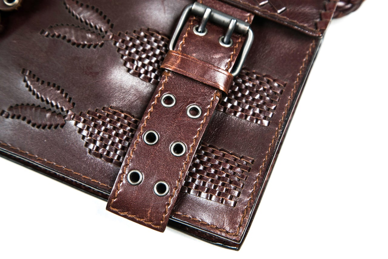 ysl brown leather bag