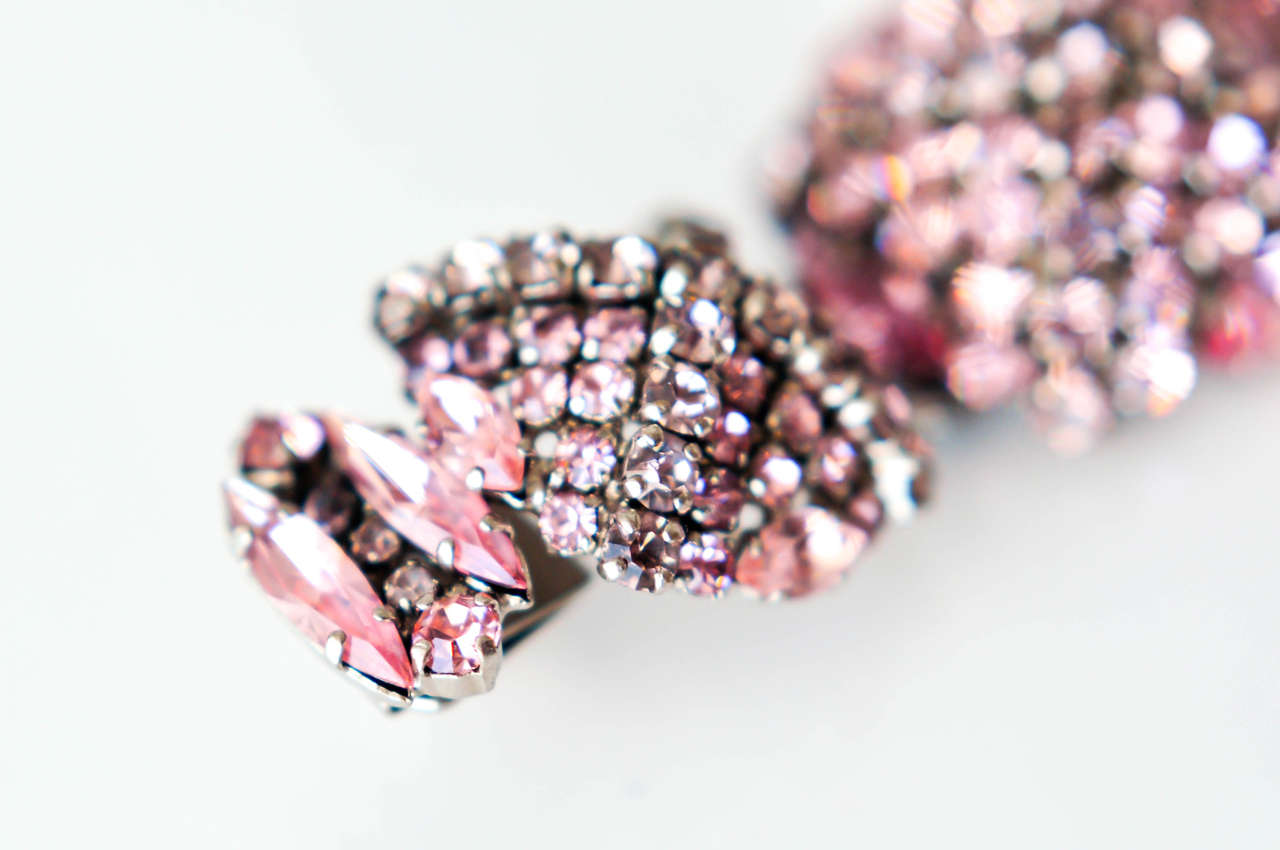 French Pastel Rhinestone Bracelet Attributed to Roger Jean-Pierre 7