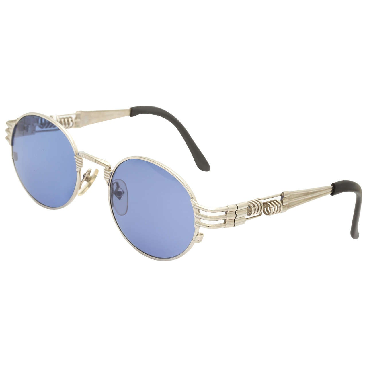 Gaultier Sunglasses  jean paul gaultier 56 6106 silver sunglasses for at 1stdibs