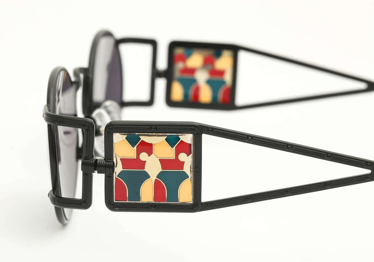 Jean Paul Gaultier Vintage Sunglasses 56-4672 In Excellent Condition For Sale In New York, NY