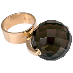 Smokey Quartz Ring that Spins