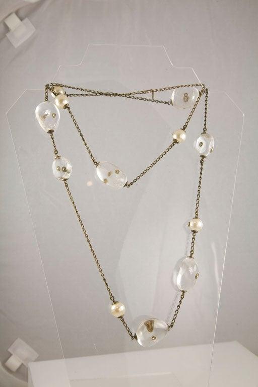 Chanel Rock Crystal and Pearl Sautoir 4